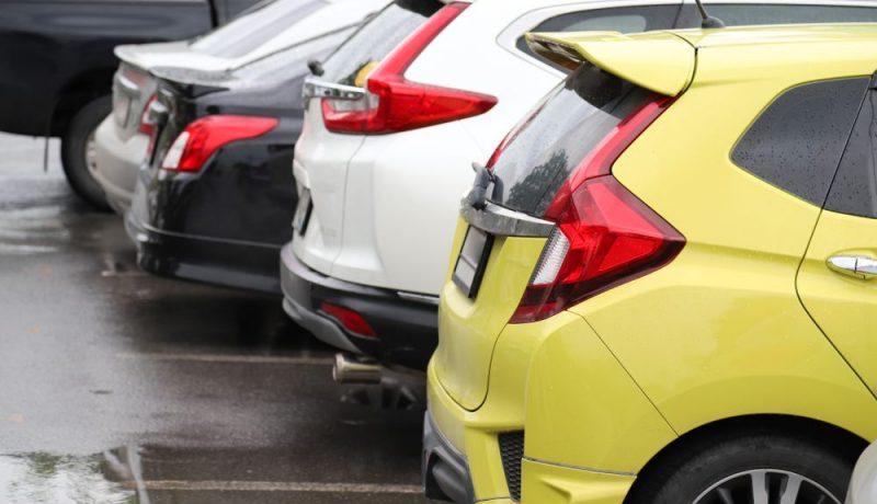 car park in parking area